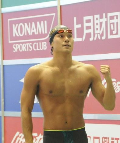 競泳:コナミオープン 中村、日...
