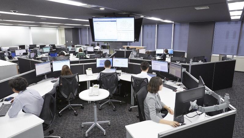 FRONTEO社内の国際訴訟オペレーションセンター(FRONTEO提供、画像の一部を加工しています)