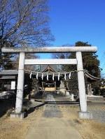 元巣神社。徴兵逃れの信仰を集めた=埼玉県吉見町で
