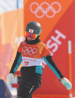 【平昌五輪】準々決勝を滑り終え、敗退が決まった竹内智香=フェニックス・スノーパークで2018年2月24日、手塚耕一郎撮影