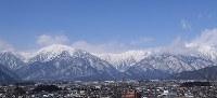 佐々成政が富山から越えてきたとされる冬の北アルプス=大町市で