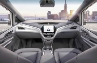 The imagined interior of a self-driving car being developed by General Motors Co. in the U.S. (Photo courtesy of General Motors Co.)