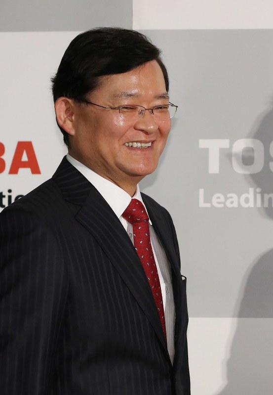 東芝の会長兼最高経営責任者(CEO)に決まった車谷暢昭氏=2018年2月14日、小川昌宏撮影