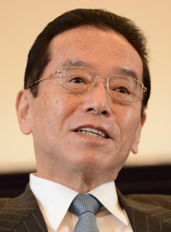 積水ハウス会長時代の和田勇氏=2013年1月10日、望月亮一撮影