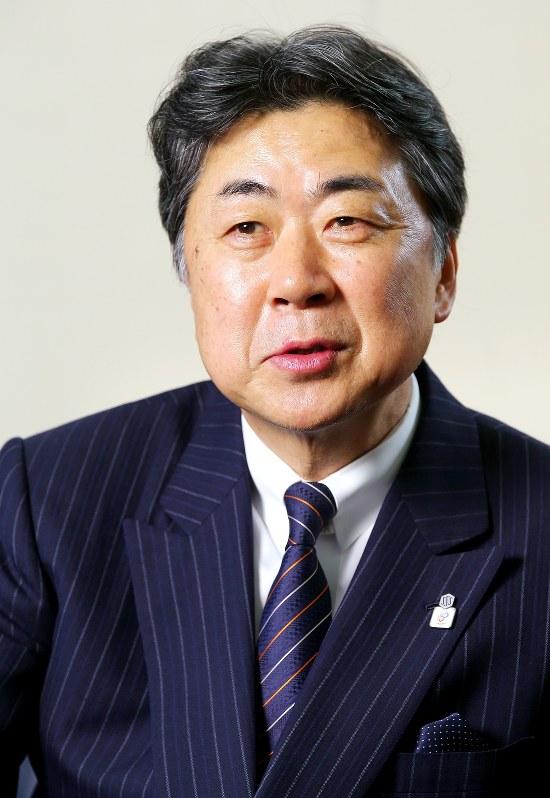 積水ハウス社長時代の阿部俊則氏=2013年12月26日、後藤由耶撮影