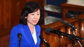 野田聖子総務相=国会内で2018年2月15日、川田雅浩撮影
