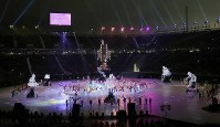 One of the various performances is seen during the opening ceremony for the Paralympic Winter Games in the Olympic Stadium in Pyeongchang, South Korea, on March 9, 2018. (Mainichi)