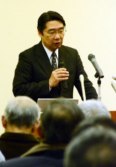 Ex-administrative Vice Education Minister Kihei Maekawa is seen in Suzaka, Nagano Prefecture, on March 13, 2018. (Mainichi)