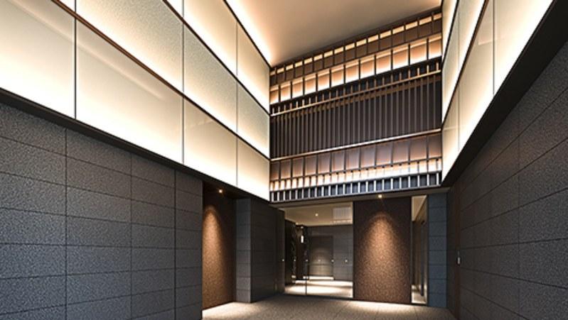 「パークホームズ日本橋三越前ザ レジデンス」のエントランス