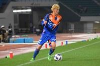 14日のルヴァン杯でプロ初得点を記録したV長崎MF新里涼選手