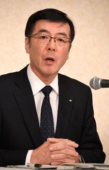 Incoming Kobe Steel Ltd. president Mitsugu Yamaguchi is seen in Tokyo's Minato Ward on March 16, 2018. (Mainichi)
