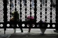 3月20日、14日に死去した英宇宙物理学者のスティーブン・ホーキング博士が、ニュートンやダーウィンなどの英国人科学者らの眠るロンドンのウェストミンスター寺院に埋葬されることになった。写真はケンブリッジ大で14日撮影された博士への献花。(2018年 ロイター/Chris Radburn)