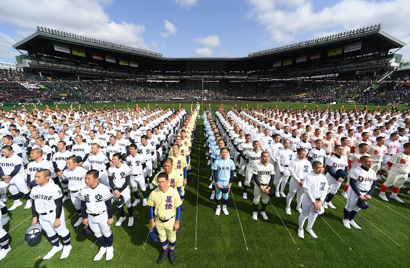 選抜高校野球:甲子園で開会式 36校が参加、熱戦開幕 - 毎日新聞