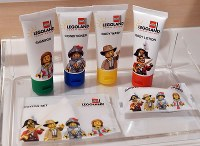 Personal items for Legoland Japan Hotel guests are seen in Nagoya's Minato Ward on March 22, 2018. (Mainichi)
