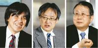 座談会で話す(右から)水野和夫さん、遠藤乾さん、森健さん=東京都千代田区で