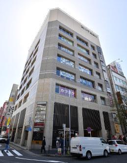 商業地で県内上昇率1位のミタニビル=名古屋市中村区で、木葉健二撮影