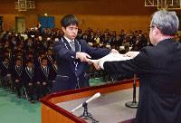 ふたば未来学園高校は今春、初の卒業生を送り出した=広野町下浅見川で