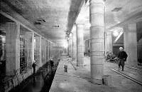 完成間近の地下鉄2号線天王寺駅=大阪市天王寺区で1967年12月27日