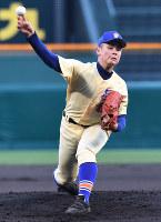 【三重―星稜】星稜先発の竹谷=阪神甲子園球場で2018年4月1日、森園道子撮影