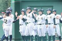 全国高校女子硬式野球選抜大会準決勝【神戸弘陵8―0至学館】=三澤威紀氏撮影