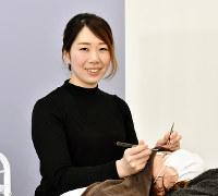 「La beaute de cil」オーナーの木村利恵さん=徳島市北田宮2で、松山文音撮影