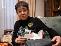 熊本地震で車中泊を経験した久保幸子さん。衣類や薬を入れた防災リュックを準備するようになった
