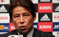 サッカー日本代表の新監督に就任し、記者会見する西野朗監督=東京都文京区で2018年4月12日午後5時18分、長谷川直亮撮影
