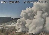 霧島山の様子=気象庁のライブカメラから