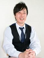 化石調査団員の大塚健斗さん=石川県白山市役所で、久木田照子撮影