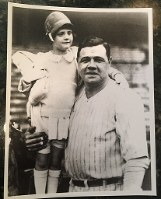 Major League Baseball legend Babe Ruth smiles with his daughter Dorothy in this photo courtesy of Linda Ruth Tosetti.