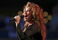 In this Aug. 28, 2017, file photo, Shania Twain performs during opening ceremonies for the U.S. Open tennis tournament in New York. (AP Photo/Kathy Willens)