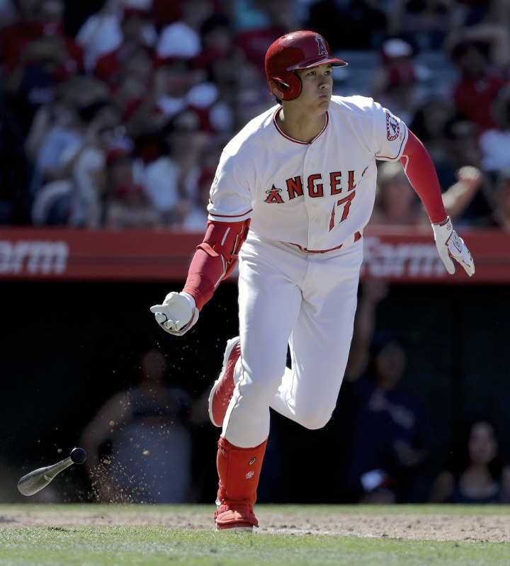 Mike Trout hits 7th HR, but Angels fall to Giants
