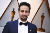 In this March 4, 2018, file photo, Lin-Manuel Miranda arrives at the Oscars at the Dolby Theatre in Los Angeles. (Photo by Jordan Strauss/Invision/AP, File)