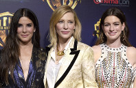 Sandra Bullock, from left, Cate Blanchett and Anne Hathaway, cast members in the upcoming film