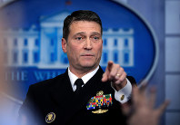 In this Jan. 16, 2018, file photo, White House physician Dr. Ronny Jackson speaks to reporters during the daily press briefing in the Brady press briefing room at the White House, in Washington. (AP Photo/Manuel Balce Ceneta, File)