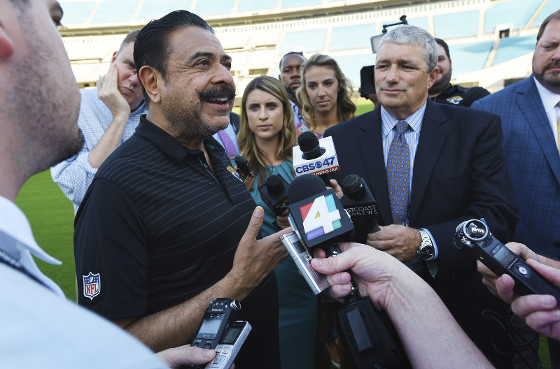NFL's Jacksonville Jaguars Owner Shahid Khan Seeking to Buy Wembley Stadium