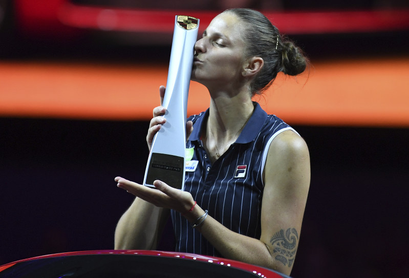 Image result for pliskova stuttgart 2018 trophy