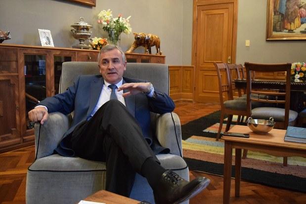 アルゼンチン北部フフイ州のモラレス州知事=2018年3月、清水憲司撮影