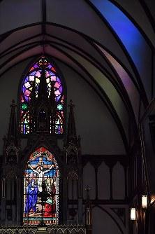 大浦天主堂のステンドグラス=長崎市で2018年5月4日午前11時56分、徳野仁子撮影