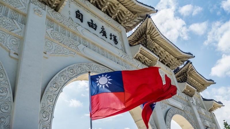台北市の自由広場で