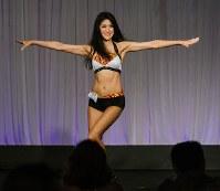 シンシナティ・ベンガルズのオーディション最終選考会でダンスパフォーマンスを見せる山口紗貴子さん=米オハイオ州で2018年5月6日、Ann Wangさん提供