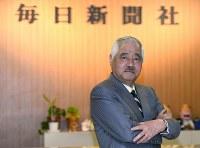 岸井成格特別編集委員=毎日新聞東京本社で2016年4月21日、丸山博撮影