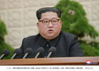 北朝鮮の金正恩・朝鮮労働党委員長=朝鮮中央通信・朝鮮通信