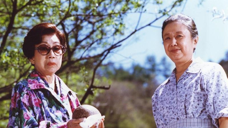 主演の杉村春子さん(左)と、新藤兼人監督の妻で共演の乙羽信子さん(右)