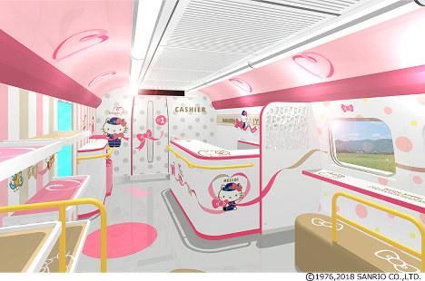 In Photos: Hello Kitty Shinkansen to go into service June 30