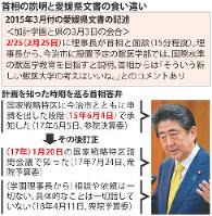 首相の説明と愛媛県文書の食い違い