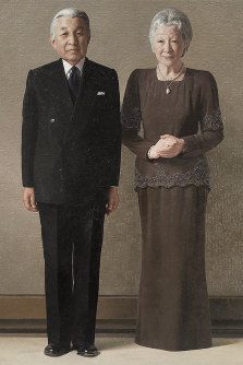 This photo shows a portrait of Japanese Emperor Akihito and Empress Michiko. (Photo courtesy of the Imperial Household Agency)