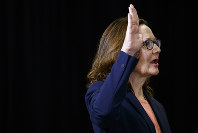 ncoming Central Intelligence Agency director Gina Haspel participates in a swearing-in ceremony at CIA Headquarters, Monday, May 21, 2018, in Langley, Va. (AP Photo/Evan Vucci)