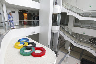 This photo taken on May 17, 2018 shows a view of the Olympic Sports Center where Panama's soccer team will live during the 2018 World Cup in Saransk, Russia. (AP Photo/Julia Chestnova)