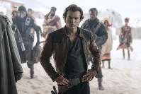 In this image released by Lucasfilm, Alden Ehrenreich appears in a scene from